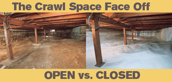 The crawlspace argument open vented vs closed for How to build a crawl space foundation for a house