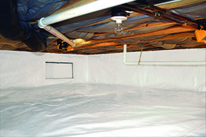The encapsulation process results in a clean, dry interior space, as shown here.