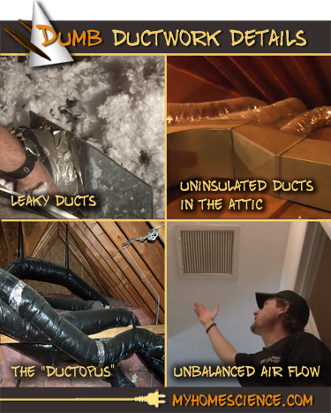 Deficiencies in ductwork are surprisingly common. Detecting and correcting these 4 problems will improve comfort and indoor air quality while also reducing ... & Dumb Ductwork Details - MyHomeScience