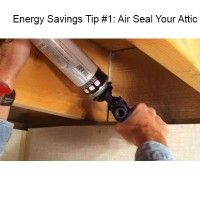 energy savings tip - air seal your attic