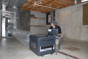 Sealing HVAC ducts from the inside with Aeroseal