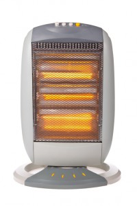 Halogen heater isolated on a white background