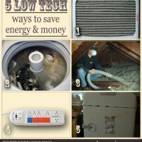 Low-tech ways to save energy and money