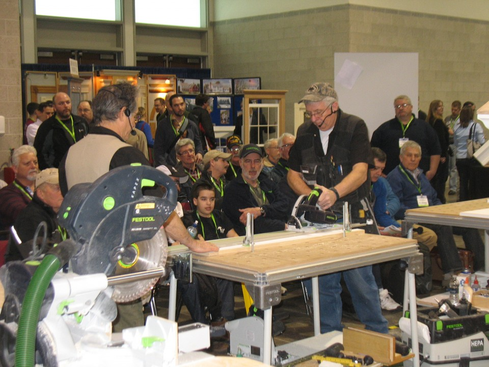 Woodworking power tools demo