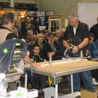 Power tools demo at JLC Trade Show