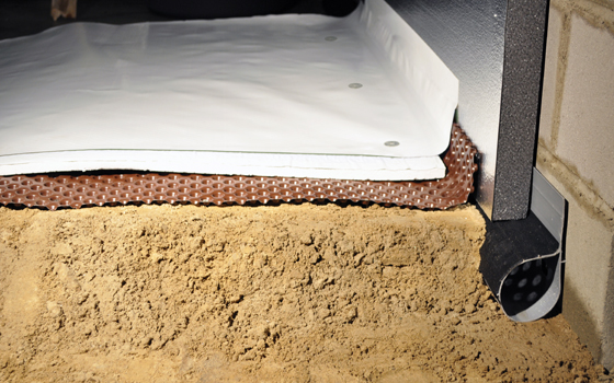 What s in store for your crawl space floor myhomescience for Crawl space plumbing